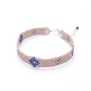 Bimisi Seed Beaded Choker Necklace